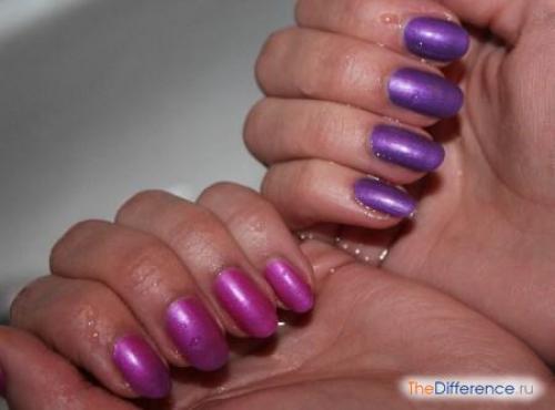 Сиреневый цвет и фиолетовый. Сравнение