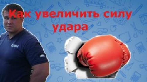 Тренировка силы удара в боксе. Упражнения на силу удара в домашних условиях