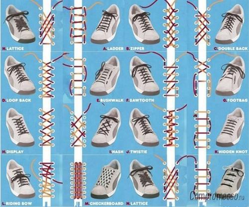Как завязать шнурки — 6 лучших способов