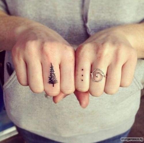 Татуировка точки, три точки