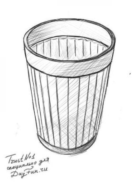 Стакан с водой рисунок. Как нарисовать стакан карандашом поэтапно