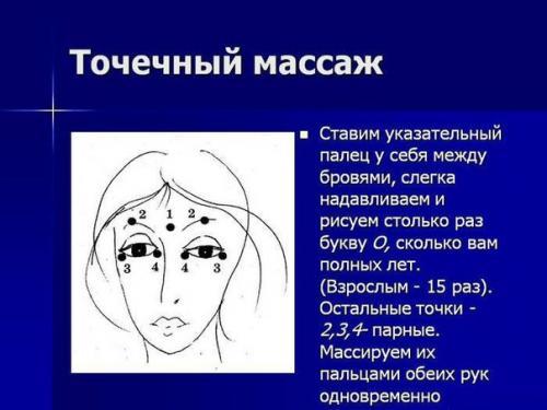 Улучшение зрения массажем точечным