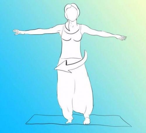 Упражнение юла - профилактика мозговых нарушений.