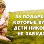35 подарков, которые ваши дети никогда не забудут.
