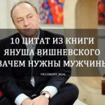 """10 цитат из книги Януша Вишневского """"Зачем Нужны Мужчины""""?"""