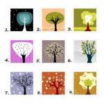 Выберите одно из деревьев и напишите номер в комментарии под фото.