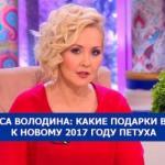 Василиса Володина: какие подарки выбрать к новому 2017 году петуха.
